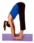 forward bend pose for heart chakra