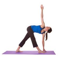 Trikonasana for sacral chakra balancing