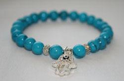 chakra turquoise stone bracelet